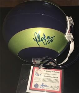 Marshall Faulk autographed St. Louis Rams full size helmet