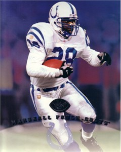Marshall Faulk Indianapolis Colts 1997 Leaf 8x10 photo card