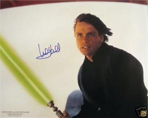 Mark Hamill autographed Star Wars Return of the Jedi Luke Skywalker 16x20 movie poster