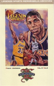 Magic Johnson Los Angeles Lakers 1992 Legends Magazine postcard