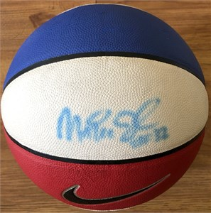 Magic Johnson autographed Nike red white & blue basketball (Superstar Greetings)