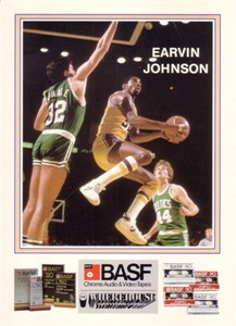 Magic Johnson Lakers 1984-85 BASF 5x7 card