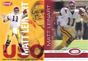 Matt Leinart USC Trojans 2006 SAGE National Convention promo card set