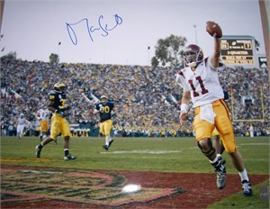 Matt Leinart autographed USC Trojans 2003 National Championship 16x20 Rose Bowl poster size photo