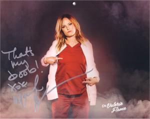 Malin Akerman autographed Childrens Hospital calendar 8x10 photo