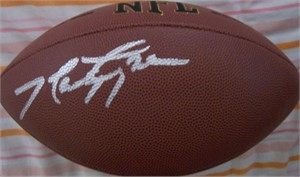 Marty Lyons (New York Sack Exchange) autographed NFL replica football