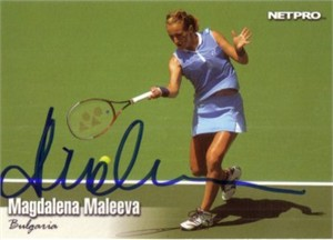 Magdalena Maleeva autographed 2003 Netpro tennis card