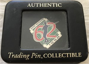 Mark McGwire 1998 Home Run #62 pin PROTOTYPE ONE OF A KIND