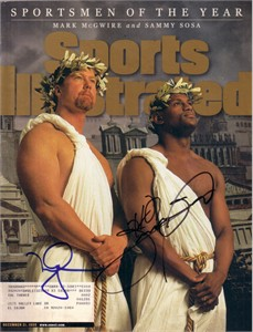 Mark McGwire & Sammy Sosa autographed 1998 Sportsmen of the Year Sports Illustrated