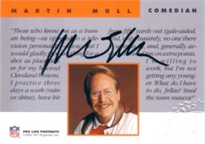 Martin Mull certified autograph 1992 Pro Line card