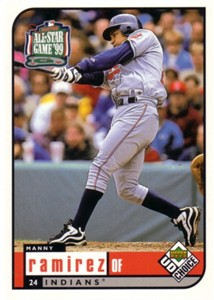Manny Ramirez 1999 Upper Deck All-Star Game jumbo card