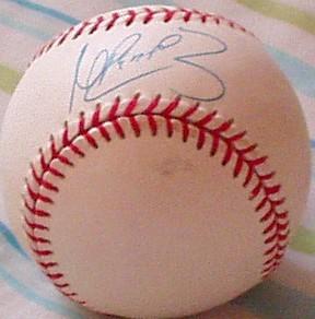 Manny Ramirez autographed American League baseball