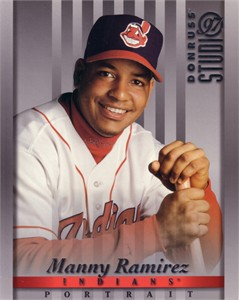 Manny Ramirez Cleveland Indians 1997 Donruss 8x10 photo card