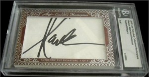 Marcus Allen & John Robinson certified autograph 2012 Leaf Executive Masterpiece Dual Cut Signature card #1/1