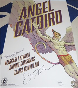Margaret Atwood autographed Angel Catbird mini Dark Horse promo poster