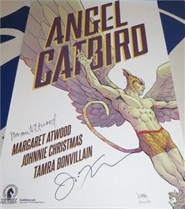 Margaret Atwood autographed Angel Catbird mini Dark Horse promo poster
