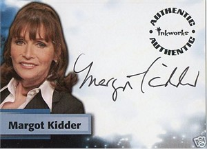 Margot Kidder Smallville certified autograph card