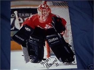 Manon Rheaume autographed 1994 Team Canada 8x10 photo