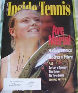 Maria Sharapova autographed 2004 Inside Tennis magazine