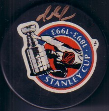 Mario Lemieux autographed 1993 Stanley Cup 100th Anniversary puck