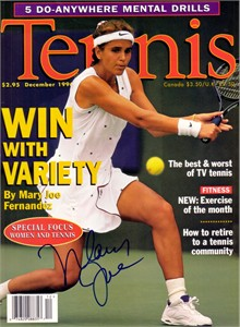Mary Joe Fernandez autographed 1996 Tennis magazine cover
