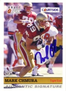 Mark Chmura Boston College certified autograph 1992 Courtside card