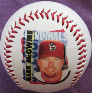 Mark McGwire St. Louis Cardinals 1998 CHEX cereal promotional Fotoball baseball