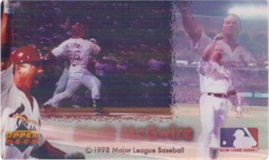 Mark McGwire 1998 Upper Deck Kodak Home Run 62 lenticular 3x5 motion card