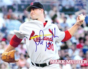 Mark Mulder autographed St. Louis Cardinals 8x10 photo