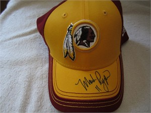 Mark Rypien autographed Washington Redskins New Era cap or hat
