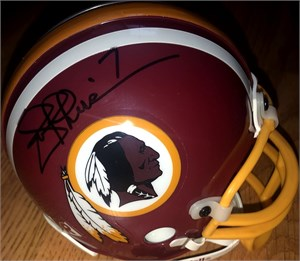 Mark Rypien & Joe Theismann autographed Washington Redskins mini helmet