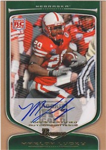 Marlon Lucky Nebraska Cornhuskers 2009 Bowman certified autograph Rookie Card #19/99