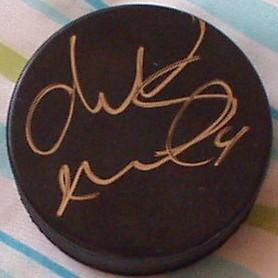 Markus Naslund autographed hockey puck