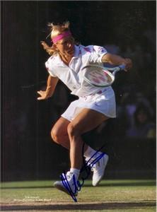 Martina Navratilova autographed tennis magazine photo