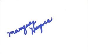 Marques Haynes autographed 4x6 index card JSA (Harlem Globetrotters)