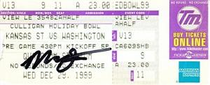 Marques Tuiasosopo autographed 1999 Holiday Bowl ticket stub
