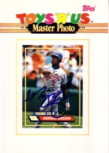 Marquis Grissom autographed Montreal Expos 1993 Topps 5x7 Master Photo