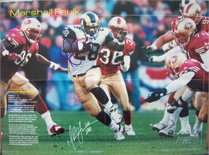 Marshall Faulk autographed St. Louis Rams 16x20 Sports Illustrated for Kids poster