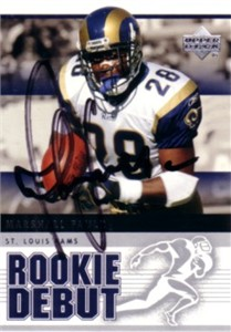 Marshall Faulk autographed St. Louis Rams 2005 Upper Deck Rookie Debut card