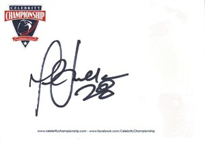 Marshall Faulk autographed 4x6 inch signature card (JSA)
