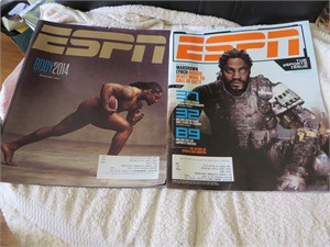 Marshawn Lynch set of 2 Seattle Seahawks ESPN Magazine issues