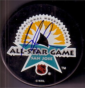 Martin Brodeur autographed 1997 NHL All-Star Game puck