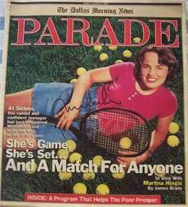 Martina Hingis autographed 1997 Parade magazine