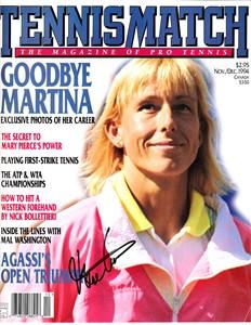Martina Navratilova autographed 1994 Tennis Match magazine cover