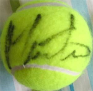 Martina Navratilova autographed tennis ball