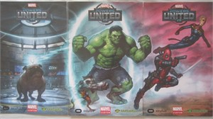 Marvel Powers United VR 2017 Comic-Con 3 poster set (Deadpool Hulk Lockjaw Ms. Marvel)