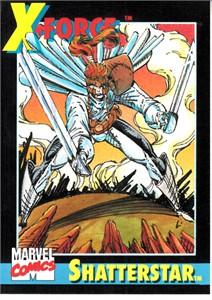 Marvel Universe 1991 Impel Shatterstar promo card #2