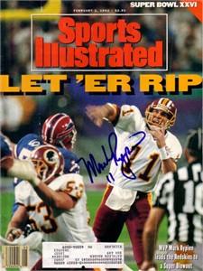 Mark Rypien autographed Washington Redskins Super Bowl 26 Sports Illustrated