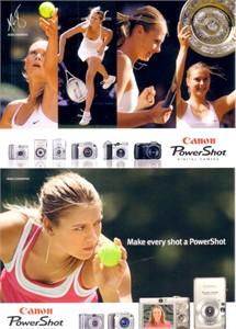 Maria Sharapova set of 2 2005 Canon tennis postcards