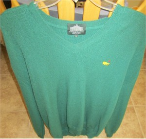 Masters Augusta National Clubhouse Collection 100% alpaca green size LARGE sweater LIKE NEW